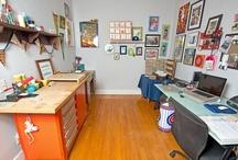 My studio / Photos of my studio in Roscoe Village, Chicago. https://www.etsy.com/shop/ArthursPlaidPants