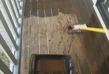 Timber deck cleaning, oiling and staining / We at Waterworx clean, oil and stain timber decks. Its all in the preparation and we have the right equipment.