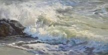 Studying Seascapes . . . / Seascapes by accomplished masters and contemporary painters of note.