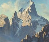 Studying Mountain Heights ... / Paintings and works depicting mountainous regions ...