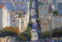 Studying San Francisco / Fine Art Paintings of the San Francisco area.