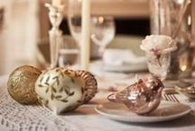 Christmas Decor / Christmas styling ideas for a beautiful home #silver #white and #faded #pink / by The DecorCafe Network