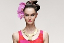 LFW Floral Inspiration / Inspiration from London Fashion week where floral accessories are a big hit.