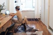 Interiors: Home Office Ideas / Home is a hotbed of entrepreneurial activity but we need our own personal workspace to inspire and help us to make it easier to work at home. #lifeworkbalance #createthehomeyoulove / by The DecorCafe Network