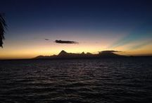 Amazing Sunsets / Stunning sunsets in French Polynesia