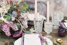 Gold, Lavender, Cream party decor