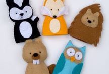 Fun Felt Finger Puppets / Cute felt finger puppets and hand puppets for imaginary play.