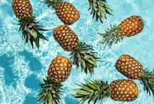 PINEAPPLES / I have an obsession with pineapples. Shape, scent and their royal vibes. In a drink, on a mantle piece or on a necklace. Nowhere a pineapple doesn't make better.