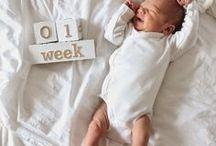 Baby Milestone Photo Ideas / baby milestone photos, newborn photos, baby monthly photos