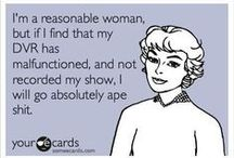 Card carrying TV addict / Yes I have an addiction to TV {hey it keeps me out of trouble right??} / by Barbara Massey