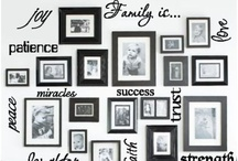 Framed / How to make a wall collage. How to hang pictures on a wall