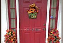 Welcome Wreath / Front door wreath ideas