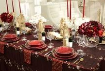 Tablescapes / decorating a table. how to decorate a table