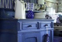 The Blues / Blue dishes. Blue Decor.