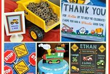 Kids Transportation Themed Birthday Party / Transportation birthday party for kids! Trains, trucks, tractors, planes, cars, and more.  Decorations, food, and many ideas to make this DIY on a budget! Printables at Melly Moments Blog #boy #kidsbirthday #trains #trucks #transportation #birthdayparty #transportationbirthday
