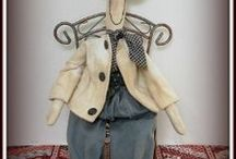 Prim and Folk-art Dolls & Designers / I just love folk-art and primitives (i.e. prims).  Here's some of my favorite folk-art and prim designers and primitive doll creations.