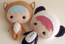 """Softies, Cloth Dolls and Felt Doll Designers and Creations / I just love """"softies"""" made of cloth or felt.  These are some of my favorite """"softies"""" doll designers and softie, cloth, and felt doll creations."""