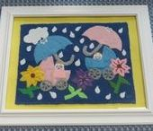Penny Rug Creations / I just LOVE penny rugs and penny rug creations.  I hope you enjoy the penny rug and wool felt creations that I have created over the years.