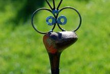 Garden Art, Junque, glass towers / by Karen Aris