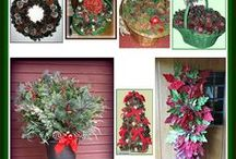 """Christmas - It's Starting To """"Ho, Ho, Ho!"""" - Christmas Time / I just LOVE decorating for the Christmas holidays and I'm always looking for new craft decorating ideas.  Here's a few ideas for your holiday decorating."""