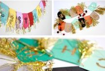 Make: garland, lanterns, toppers, backdrops / by Meredith Morrow