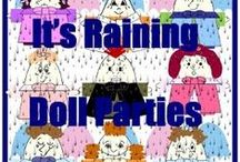 """It's Raining Doll Parties / At the """"It's Raining Doll Parties"""" website the """"dollies"""" and I can help you plan and decorate for the the perfect boys birthday or baseball party and girls doll crafting or birthday party. We have """"The Hawk Family"""" division of adorable products for girls and boys and """"The Sneaks Family"""" division of adorable baseball party products for boys.  Time to have some fun!  Cake anyone?"""