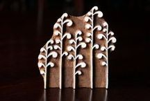 Indian Hand Carved Wood Block Stamps