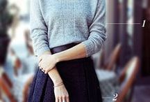 Outfit: cooler weather (dress/skirt) / by Meredith Morrow