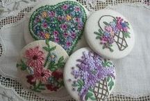 """French Knot Creations / I just love  creative embroidery and ribbon embroidery.  One of my favorite stitches is a French Knot so I thought a Pinterest board with beautiful French Knots """"eye candy"""" would be wonderful to look at.  I hope you enjoy my board."""