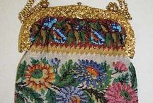Victorian Bags and Historic Period Bags, Purses, Pouches and Clutches / Who can resist a woman wearing a beautiful Rococo, Edwardian, or Victorian dress holding a beautiful parasol and carrying a  beautifully beaded and embroidered purse or bag. I would love to see some of these ornate bags. They're just beautiful works of art all unto themselves - don't you think?