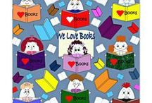 """We Love Books / If you love books like we do and are planning a book party the """"dollies"""" and I at """"It's Raining Doll Parties"""" website can can help you plan and decorate for the the perfect book party.  What's your favorite book?"""