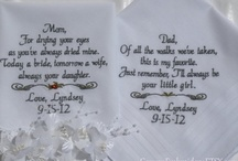 Personalized Wedding Handkerchiefs / Embroidered Wedding Handkerchiefs by Canyon Embroidery Embroidered Wedding Handkerchiefs, Make your wedding extra special by getting your handkerchiefs personalized! They make wonderful gifts for the Mother, Father of the Bride & Groom. And wedding party. ❤ #wedding #embroidereddweddinghandkerchief #gift