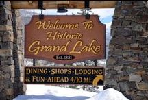 Grand Lake, Colorado & Western Riviera at the west entrance to Rocky Mountain National Park (www.stayingrandlake.com) / Western Riviera offers the only lakeside motel, cabins & events venue in Grand Lake, Colorado. Grand Lake is Colorado's largest natural lake and the ideal vacation destination for anyone who loves the outdoors and nature in any season. Surrounded by majestic mountains, miles of trails for various activities, abundant wildlife, and wooden boardwalks leading to restaurants and shops, Grand Lake has a season for you. Call us today at 970-627-3580 to plan your Grand Lake vacation. / by Jackie Tompkins, Western Riviera Lakeside Lodging & Events