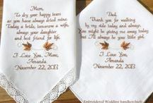Fall Wedding Handkerchiefs / Embroidered Wedding Handkerchiefs by Canyon Embroidery Embroidered Wedding hankerchiefs Make your wedding extra special by getting your handkerchiefs personalized! They make wonderful gifts for the Mother & Father of the Bride & Groom. And wedding party. ❤ #wedding #fallwedding #gift