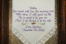 Mother In Law Wedding Handkerchief My Second Mom / Personalized Wedding Hankerchiefs. Hankies are embroidered in your wedding colors. #wedding #weddinggifts #embroideredweddinghandkerchiefs