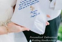 Father of the Bride Personalized Wedding Hankerchief by Canyon Embroidery / Embroidered Wedding Handkerchiefs by Canyon Embroidery Embroidered Wedding Handkerchiefs, Make your wedding extra special by getting your handkerchiefs personalized! They make wonderful gifts for the Mother, Father of the Bride & Groom. And wedding party. ❤ #wedding #dad #fatherofthebride #gift