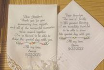 Grandparents Wedding Gifts / Embroidered Wedding Handkerchiefs by Canyon Embroidery Embroidered Wedding Handkerchiefs, Make your wedding extra special by getting your handkerchiefs personalized! They make wonderful gifts for the Mother, Father of the Bride & Groom. And wedding party. ❤ #wedding #grandparents #gift