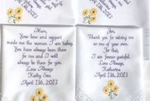 Barn Weddings / Embroidered Wedding Handkerchiefs by Canyon Embroidery Embroidered Wedding Handkerchiefs, Make your wedding extra special by getting your handkerchiefs personalized! They make wonderful gifts for the Mother, Father of the Bride & Groom. And wedding party. ❤ #wedding #fallwedding #gift