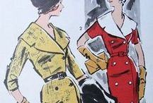 //Figurines de 1920 a 1959// / ilustraciones de moda, bocetos, patrones