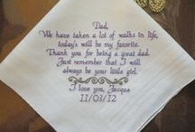 Father of the Bride / Embroidered Wedding Handkerchiefs, by Canyon Embroidery Wedding Gift, Make your wedding extra special by getting your handkerchiefs personalized! They make wonderful gifts for the Mother & Father of the Bride & Groom. And wedding party. ❤ #weddinggift