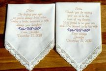 Mom & Mother In-law, Wedding Gifts / Embroidered Wedding Handkerchiefs by Canyon Embroidery Embroidered Wedding Handkerchiefs, Make your wedding extra special by getting your handkerchiefs personalized! They make wonderful gifts for the Mother, Father of the Bride & Groom. And wedding party. ❤ #wedding #momgift #gift