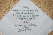 Infinity / Embroidered Wedding Handkerchiefs by Canyon Embroidery Embroidered Wedding Handkerchiefs, Make your wedding extra special by getting your handkerchiefs personalized! They make wonderful gifts for the Mother, Father of the Bride & Groom. And wedding party. ❤ #wedding #Infinity #gift