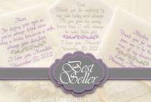 Wedding Ideas / Wedding Gift Custom Personalized Embroidered Wedding Handkerchiefs by Canyon Embroidery @ ETSY. www.CanyonEmbroidery.ETSY.com #weddinghandkerchiefs #weddinggift