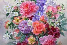 //Flores pintadas// / Flores en el arte