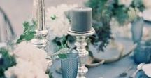 Dusty blue Weddings / Find inspiration for pale blue wedding themes