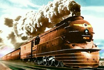 Trains,Trains ,and more Trains  / My family and I took the train from Mass. to Seattle Washington State to get on a ship to go to Alaska.that was my dream trip.And yes dreams do come true. / by Marcie Pelletier-Potvin