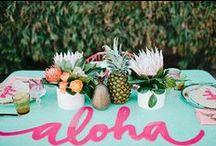 Hawaiian Luau Party Ideas / Aloha! Hang loose and hele mei hoohiwahiwa (come celebrate) Hawaiian Style!