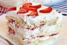 """Desserts! / """"Life is short. Eat dessert first."""" ― Ernestine Ulmer"""
