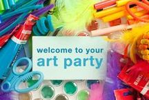 Arts & Crafts Party Ideas / You can't use up Creativity - the more you use, the more you have.