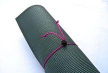 Mini Yoga Mat Tie / Mini Yoga Mat Ties in 13 Different Colors. Handmade just for you!